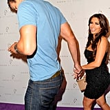 Kim Kardashian and Kris Humphries held hands.