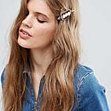 Asos Limited Edition Faux Pearl Heart Hair Clip