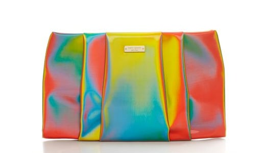 "Can you say ""party clutch""? Because that's exactly what this Kate Spade Kaliedoball clutch ($248) is: bright, fun, playful, and a veritable optical illusion."