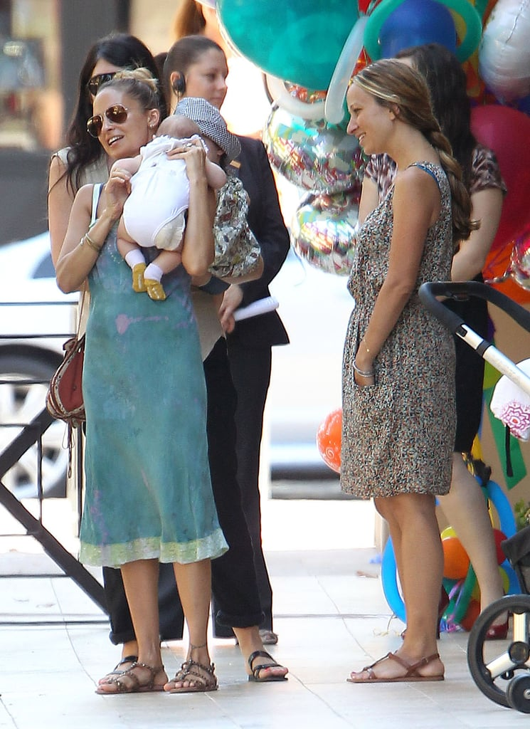 Nicole Richie With Harlow and Sparrow Pictures