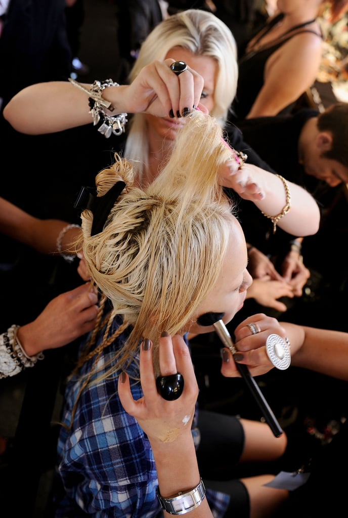 Photos of Hair Backstage at Alice McCall SS 2010-11 at RAFW 2010