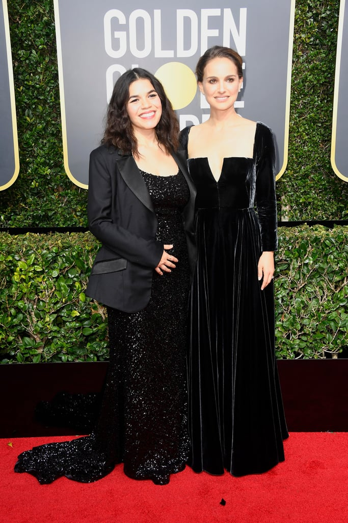 America Ferrera Christian Siriano Dress Golden Globes 2018