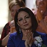 Gloria Estefan guest stars as Santana's mother.