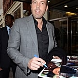 Ben Affleck stopped by the CBS studios in NYC.
