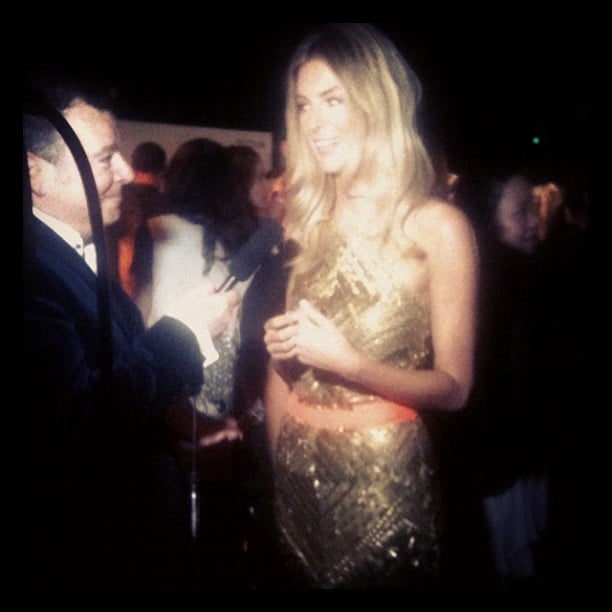 We took a sneaky pic of the gorgeous Jen Hawkins backstage at the Myer Spring Summer 2013 Collection launch.