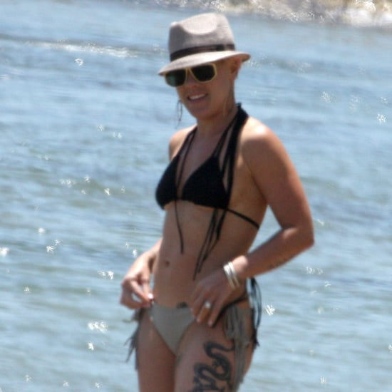 Pink Wears Small Bikini in Malibu Pictures