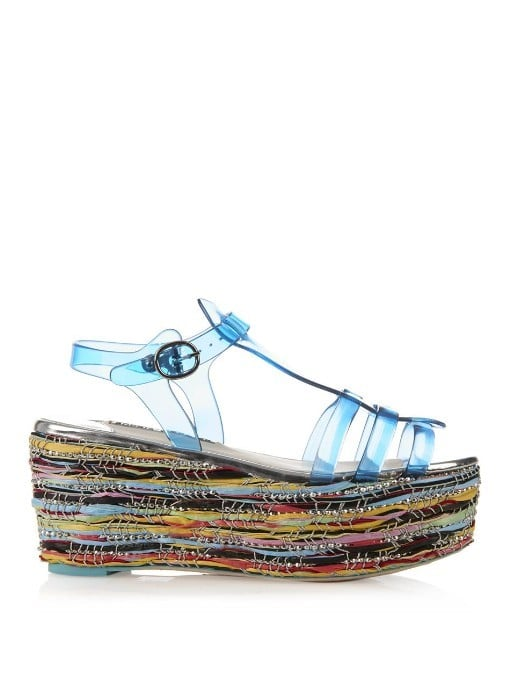 Sophia Webster Suki Jelly Platform Sandals ($418)