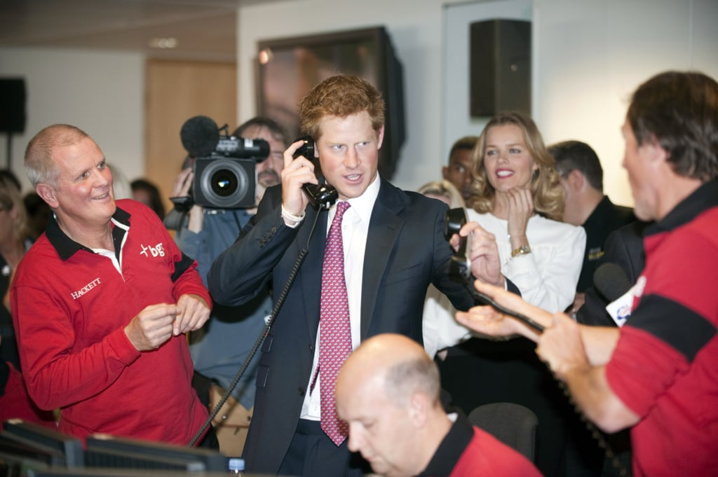 Prince Harry managed the phone lines.