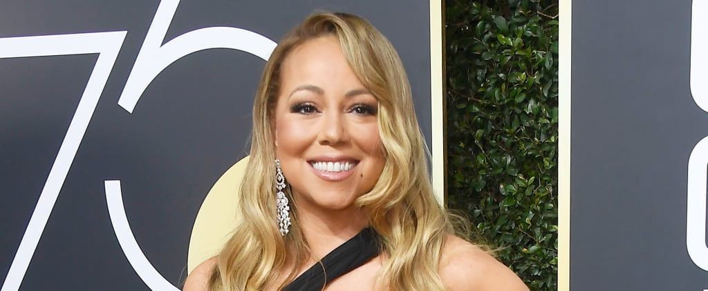 Mariah Carey at the 2018 Golden Globe Awards