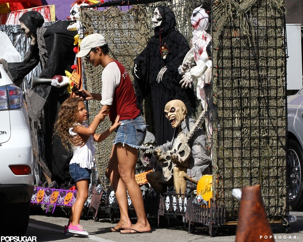 Halle Berry and Nahla Aubry went Halloween costume shopping.