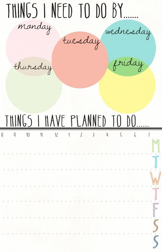 Download: Idlized Weekly Planner