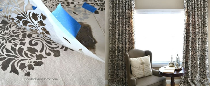 DIY Drop-Cloth Curtains
