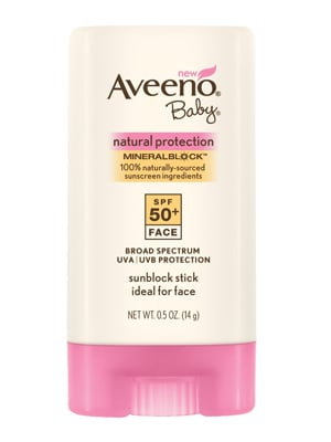 One of the Aveeno Baby Natural Protection Mineral Block Face Stick ($10) is a mineral-based sunscreen using both zinc oxide and titanium dioxide to block the sun's rays. Plus, in stick form, it's easy to apply to squirmy tots and fits nicely inside a diaper bag.