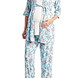 Floral Print Maternity and Nursing Pajama Set