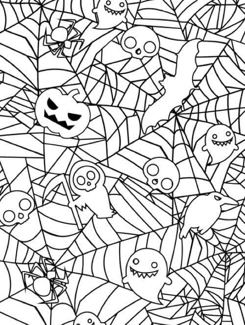 Get The Coloring Page Spiderweb Halloween Coloring Page The Coloring Page