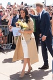 Prince Harry's Reaction to a Man Giving Meghan Markle a Huge Bouquet of Flowers Is Priceless