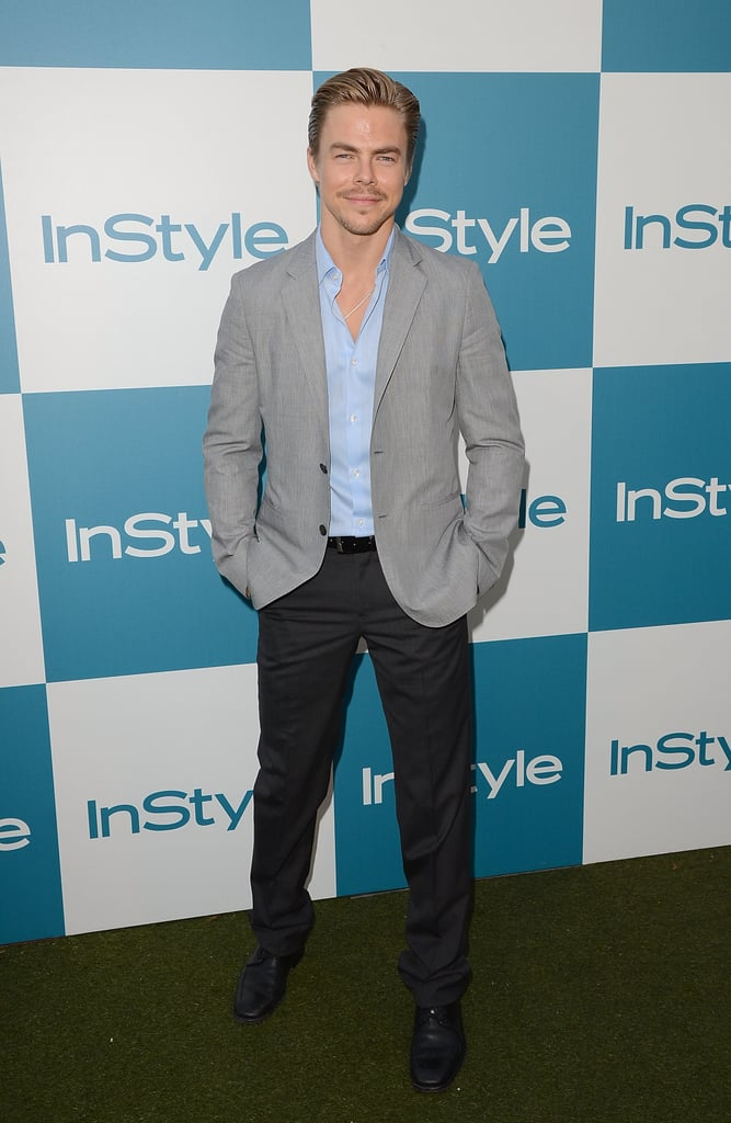 Derek Hough looked suave at the InStyle Summer Soiree.