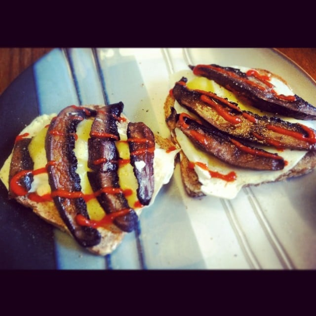 Grilled Portabello and Egg