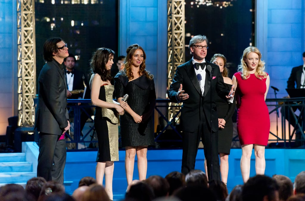 Kristen Wiig, Wendi McLendon-Covey, Maya Rudolph, Jim Carrey, and Paul Feig all shared the stage at the Comedy Awards in NYC.