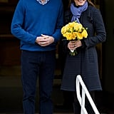 Kate Middleton left a London hospital with Prince William after a four-day stay to treat her acute morning sickness.