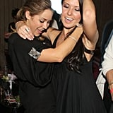 Lauren Conrad danced with Audrina Patridge at an LA bash in November 2007.