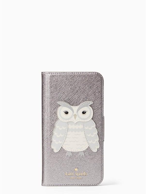 Kate Spade Owl Applique Folio