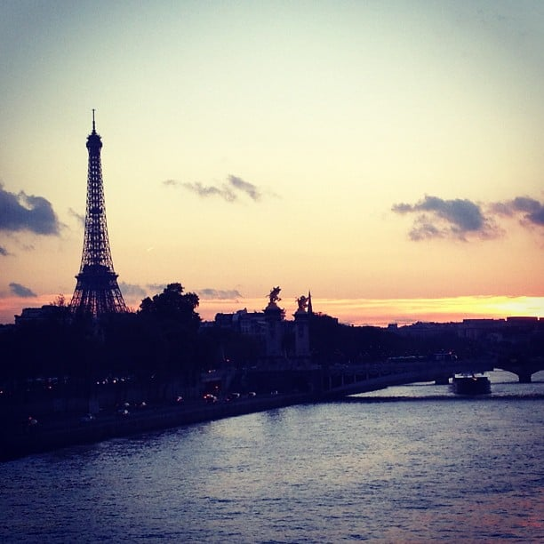 We snapped a photo of the perfect end to a fashion-filled (and delicious) day in Paris.