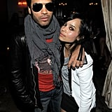 Lenny kept his arm about Zoë at an MTV Movie Awards afterparty back in June 2010.