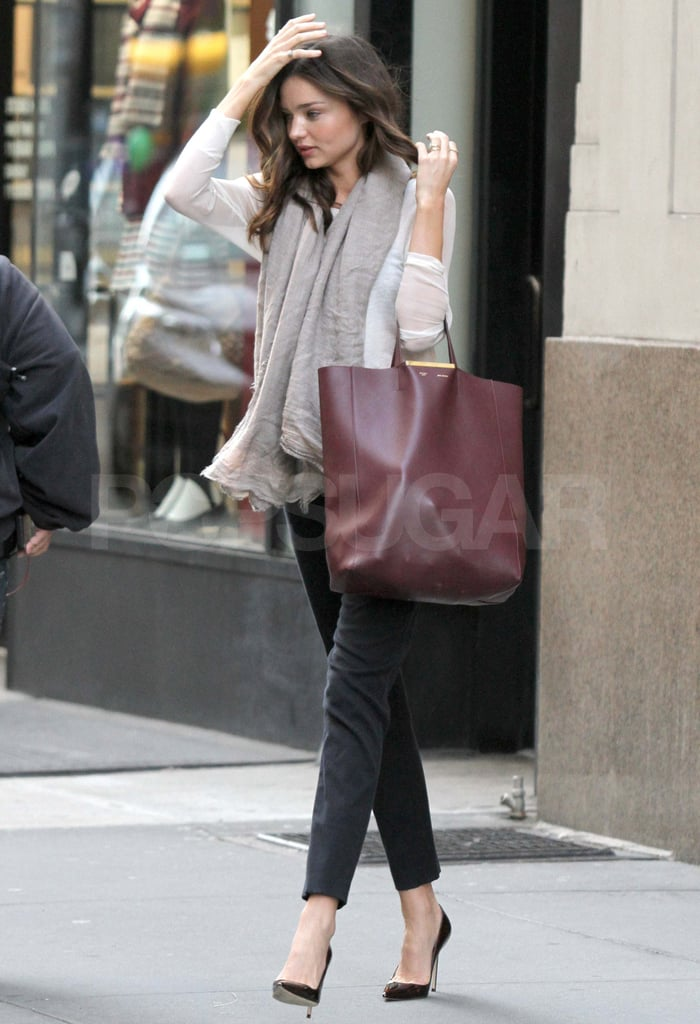 Yet another NYC outing with her Céline tote on her arm.