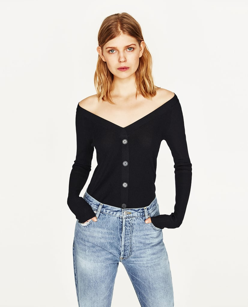 Zara Sweater With Buttons