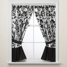 Rosewood Black and White Window Panels by Nicole Miller ($45)