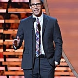 Andy Samberg stepped into the spotlight at the NFL Honors award show in NYC on Saturday.