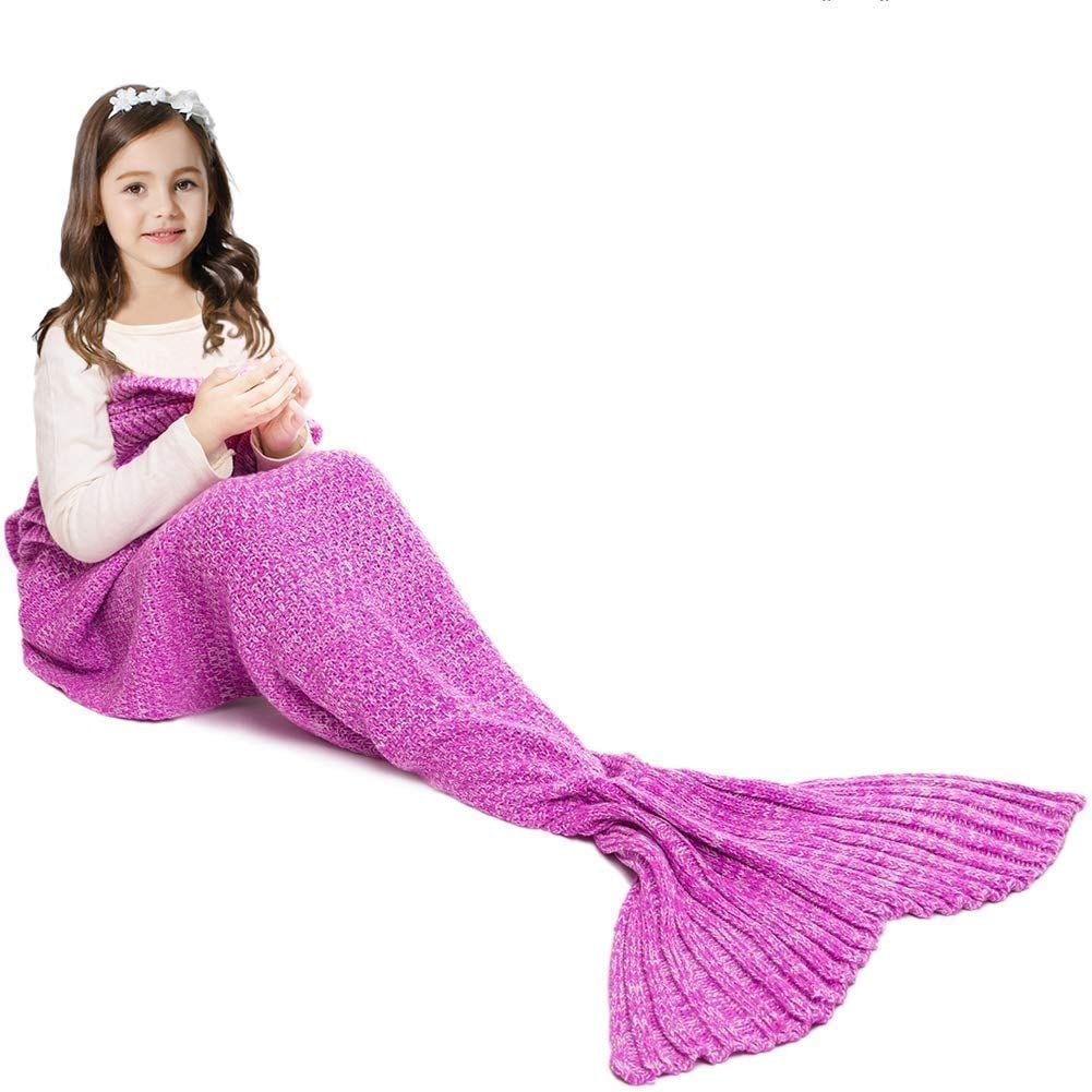 For 7-Year-Olds: Mermaid Tail Blanket for Kids
