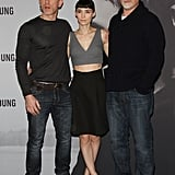 Rooney Mara and Daniel Craig met up in Germany with their director, David Fincher.