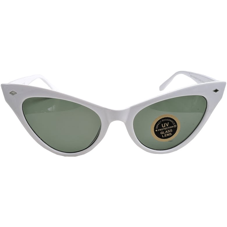 White UV Protected Cat With Sunglasses