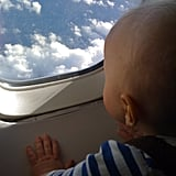 First time you take your baby on an airplane.