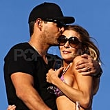 LeAnn Rimes and Eddie Cibrian on vacation in Mexico.