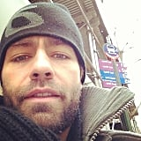 Adrian Grenier braved the cold while taking public transportation. Source: Instagram user adriangrenier