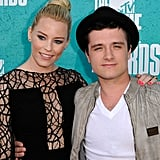 Elizabeth Banks and Josh Hutcherson posed on the red carpet at the MTV Movie Awards.