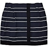 We like Proenza Schouler's slick take on stripes via a structured tweed mini.  Proenza Schouler Baja Wrap Skirt ($775)