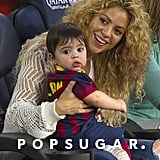 Shakira and her son, Milan, went to a Barcelona soccer game on Sunday.