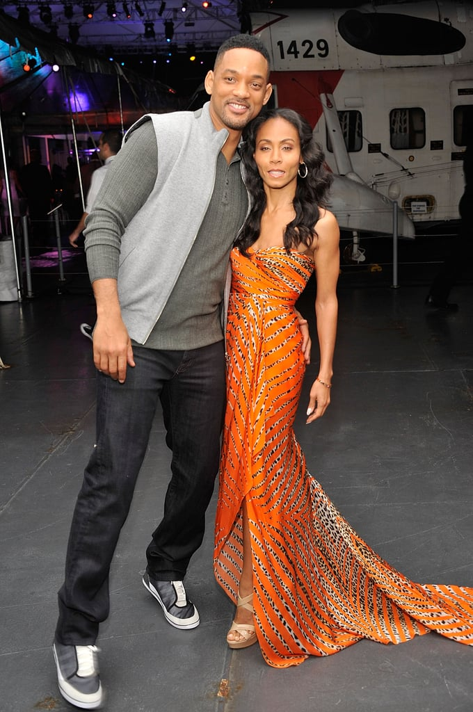 Will Smith embraced wife Jada Pinkett-Smith at the after party for Men in Black III in NYC.