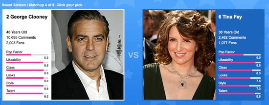 Sweet 16 Matchup: George Clooney vs. Tina Fey