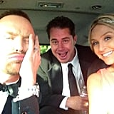 Aaron Paul snapped a car selfie on his way to the show. Source: Instagram user glassofwhiskey