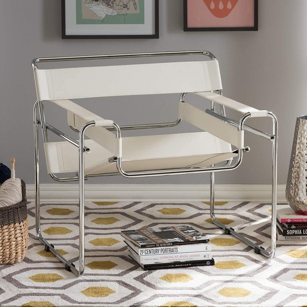 For a Sleek, Decorative Chair: Baxton Studio Chair