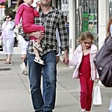 Ben Affleck had a shopping date with his daughters before Mother's Day in LA.