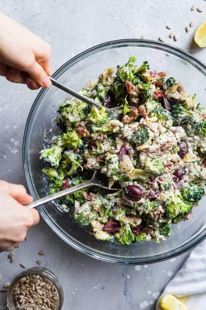 Mediterranean Low Carb Broccoli Salad