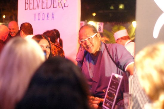 Chef Morimoto Poses With Fans