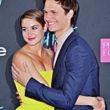 Shailene Woodley and Ansel Elgort Shared a Cute Embrace at the Premiere of The Fault in Our Stars