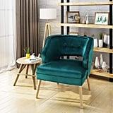 Christopher Knight Home Michaela Mid Century Velvet Accent Chair